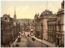 Bath High Street Vintage photochrome print ca. 1890