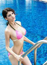 Costume Da Bagno Bikini Brasilian Trasparente slim sling Swimwear Swimsuit donna