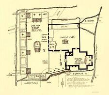 Old Map - Texas Revolution, Alamo In San Antonio 1836 - 23x26