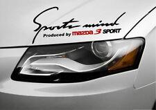 Sports mind Produced by MAZDA 3 SPORT Vinyl Decal sticker emblem logo BLACK
