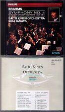 Seiji Ozawa: Brahms Symphony No. 4 & Hungarian Dance 5 6 CD PHILIPS Saito Kinen