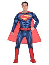 Adults Classic Superman Fancy Dress Superhero Costume DC Comic Book Day Mens
