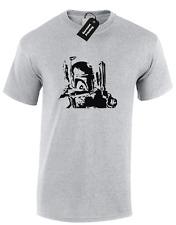 Boba Fett silueta para hombre Camiseta Star Wars Darth Vader Yoda Trooper Jedi X Ala