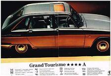 PUBLICITE advertising  1970   la RENAULT 16TS     le tourisme 4 A (2 pages)