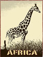 Sticker mural animal Africa Girafe