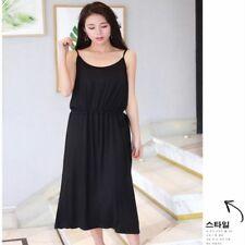 Ladies Modal Dress Spaghetti Strap Long Oversize Under Dress Petticoat Slip Soft