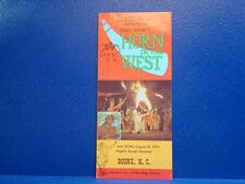 DANIEL BOONE/Horn in the West/BOONE, NC/1970 Brochure