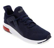 Mens Puma Black Or Navy Electron Gel Mesh Steet Sneaker Shoes Runners Joggers