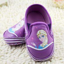 Baby Girls Elsa Frozen Princess Purple Ballet Summer Shoes Pre Walkers