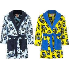 Kinder Bademantel Jungen Minions blau gelb kuschelig weich 98 104 116 128 #142