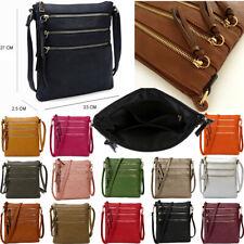 Ladies Small Cross Body Bag Messenger Over Shoulder Multi Pocket Travel Handbag
