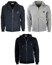 MENS NEW FORAY HOODIE DESIGNER BRAND BLACK GREY ZIP SWEATER S TO XXL RRP £39.99