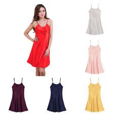 Women Lady Soft Silk Robe Dress Nightgown Lingerie Babydoll Nightdress Sleepwear