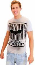 Batman Barcode Defender of Gotham City Silver Mens T-Shirt
