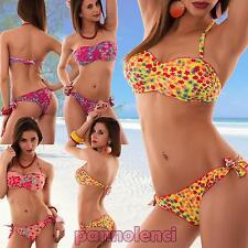 Bikini donna costume da bagno BRASILIANA fascia STELLE due pezzi nuovo SE471