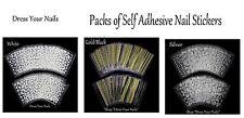 Nail Stickers  Self Adhesive Nail Art Craft  French Tip Lines Patterns 24 Sheets