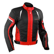 Chaqueta de la Moto del verano de tela de malla transpirable Protecciones Rojo