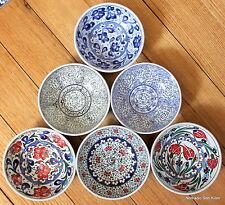 Turkish ceramic bowls (16cm)  handmade, hand painted, food safe - TRADITIONAL