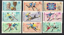 Hungary 1966 FOOTBALL SOCCER  WORLD CUP WEMBLEY SC # 1772 - 1779 B258 CNH Set