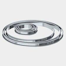de Buyer 3093.24 Cercle à Tarte Perforé Bord Roulé Inox Hauteur 2 cm Diamètre...