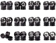 Black Wheel Rims Diameter:52mm Width:26mm Metal 1/10 Sakura HSP Tamiya Traxxas
