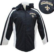 New Orleans Saints Women's Superbowl Champions Hooded Winter Jacket Black NFL A4