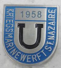 Insigne de base sous-marine U-Boot St NAZAIRE KM werft Marine - bleu REPRO