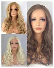 BLONDE BROWN HEAT RESISTANT LONG WOMANS LADIES WAVY LACE FRONT HAIR WIG KW31
