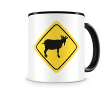 Ziegen Warnschild Tasse Kaffeetasse Teetasse Kaffeepott Kaffeebecher Becher