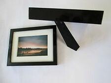 Cadre bois noir photo 10x15 Lot 2 à poser encadrement laqué relief Neuf classe !