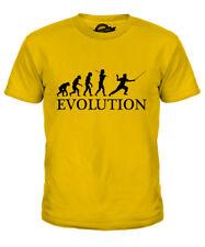SCHERMA DELL'EVOLUZIONE UMANA Kids T-Shirt Tee Top Regalo Spada Clothing