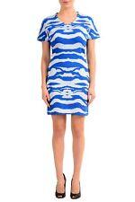 Just Cavalli Multi-Color Short Sleeve V-Neck Women's Sheath Dress Zs XS S M L XL