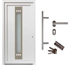 kuporta Kunststoff Haustür > Lugana weiß < Nebeneingangstür Kellertür Außentür