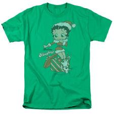 Betty Boop Define Naughty Mens Short Sleeve Shirt Kelly Green