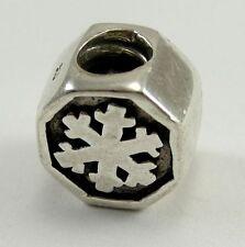 Biagi Sterling Snowflake Bead Italian Modular #BS140