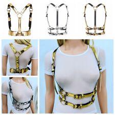 Men Women body braces Chest harness belt Bralette Bustier Bra Strappy Tops Shiny