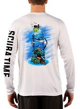 Men's UPF 50 Long Sleeve Microfiber Performance Fishing Shirt Scuba Tank