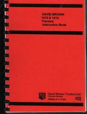 David Brown 1410/1412 Tractor Instruction Manual Book