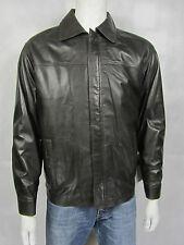 Mens Real Leather Brown Jacket Shirt New Style Rock Biker Bike Man Harrington