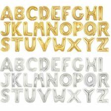 doré,argent 76.2cm ALPHABET A-Z Lettres Numéro aluminium Ballons Fête Nom Balons