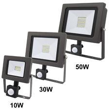 DEL Projecteur 10/30/50W PIR Motion Mouvement capteur sécurité Flood light IP65