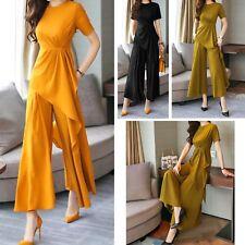 Completo Donna Pantaloni Larghi Maglia Asimmetrica Woman Pants Set SETWOM01