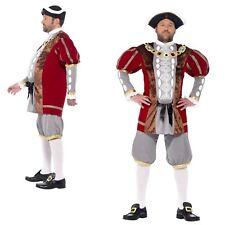 Adulto Hombres Lujo Rey Enrique VIII 8th Histórico Tudor Disfraz