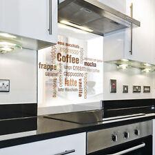 Splashback Paraschizzi Paraspruzzi Rivestimento Cucina caffe scritta bianco