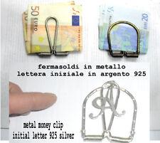 1 fermasoldi LETTERA ARGENTO 925  artigianale  FERMA SOLDI money clip crafted