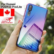 For Huawei P20 Pro Lite Luxury Aurora Gradient Color Transparent Cover PC Case