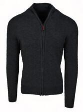 Strickjacke pullover Mann Diamant Winter casual schwarz golf Reißverschluss