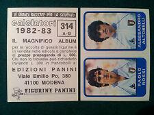 CALCIATORI 1982-83 n 314 ITALIA ROSSI ALTOBELLI Figurina Sticker Panini NEW