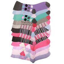 3 x Ladies Cotton Blend Non Elastic Loose Top Gentle Grip Pattern Design Socks