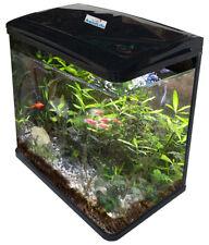Fish Tank 10L 35L 70L 100L Aquarium Curved Glass Filter Cabinet Stand Pump Light